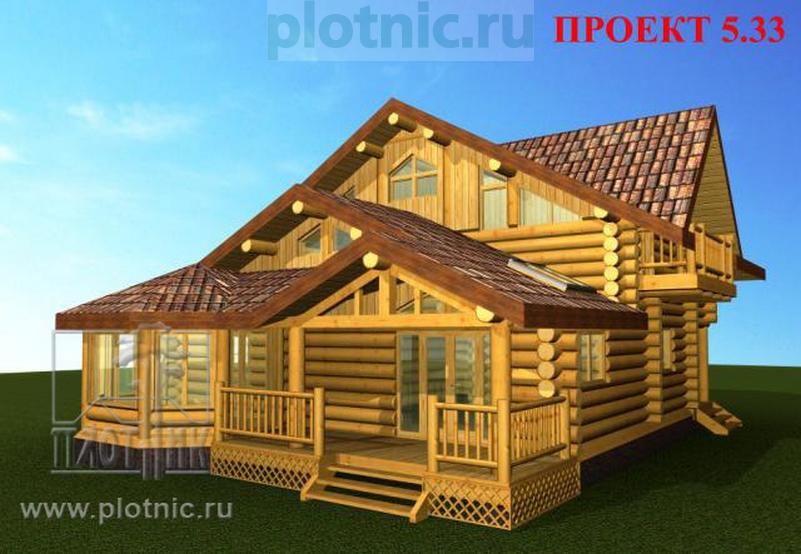 Рубленый дом для средней полосы России
