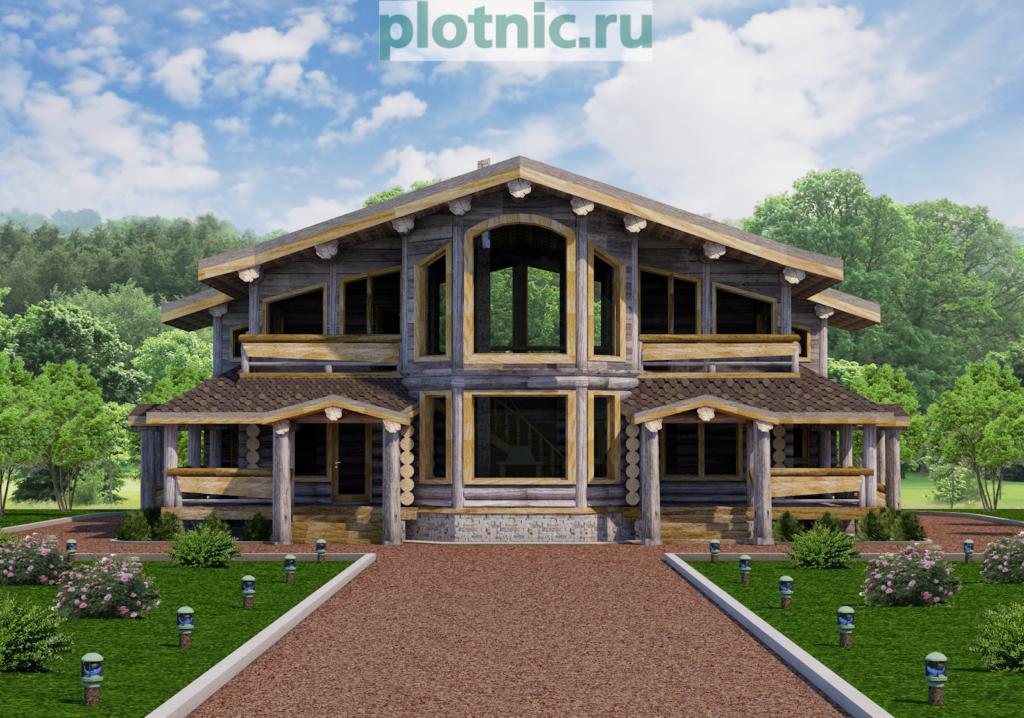 Красивый дом с необычной планировкой